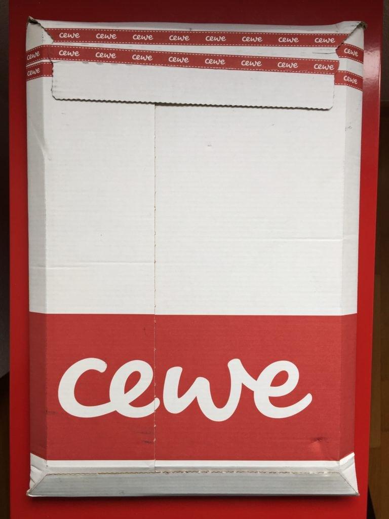 Cartón del paquete del pedido de Cewe