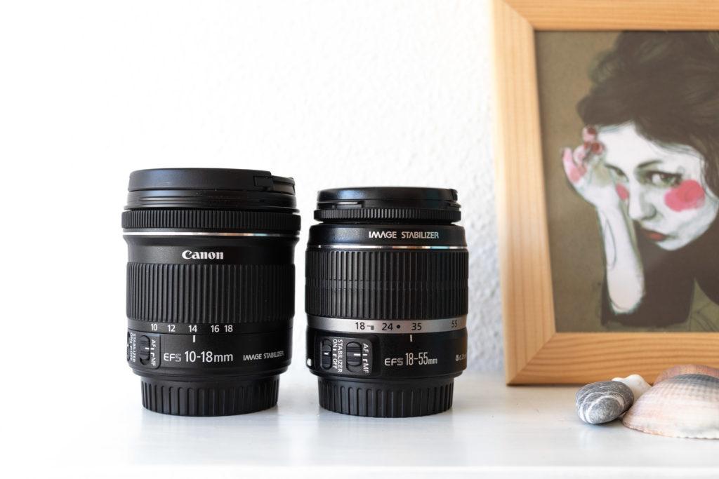 Comparativa de tamaño entre dos objetivos de Canon