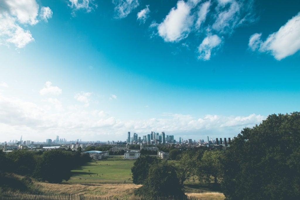 Vistas desde meridiano de Greenwich