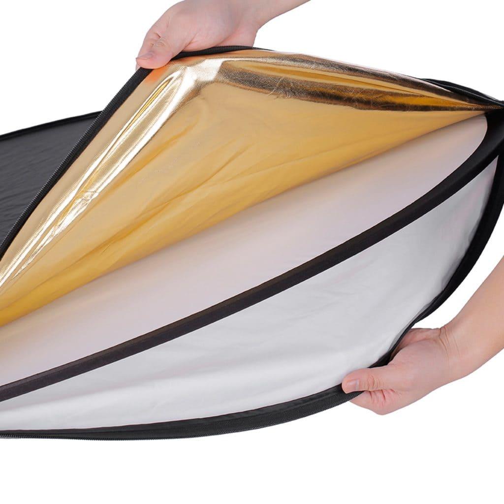 Reflector 5 en 1 con las distintas fundas