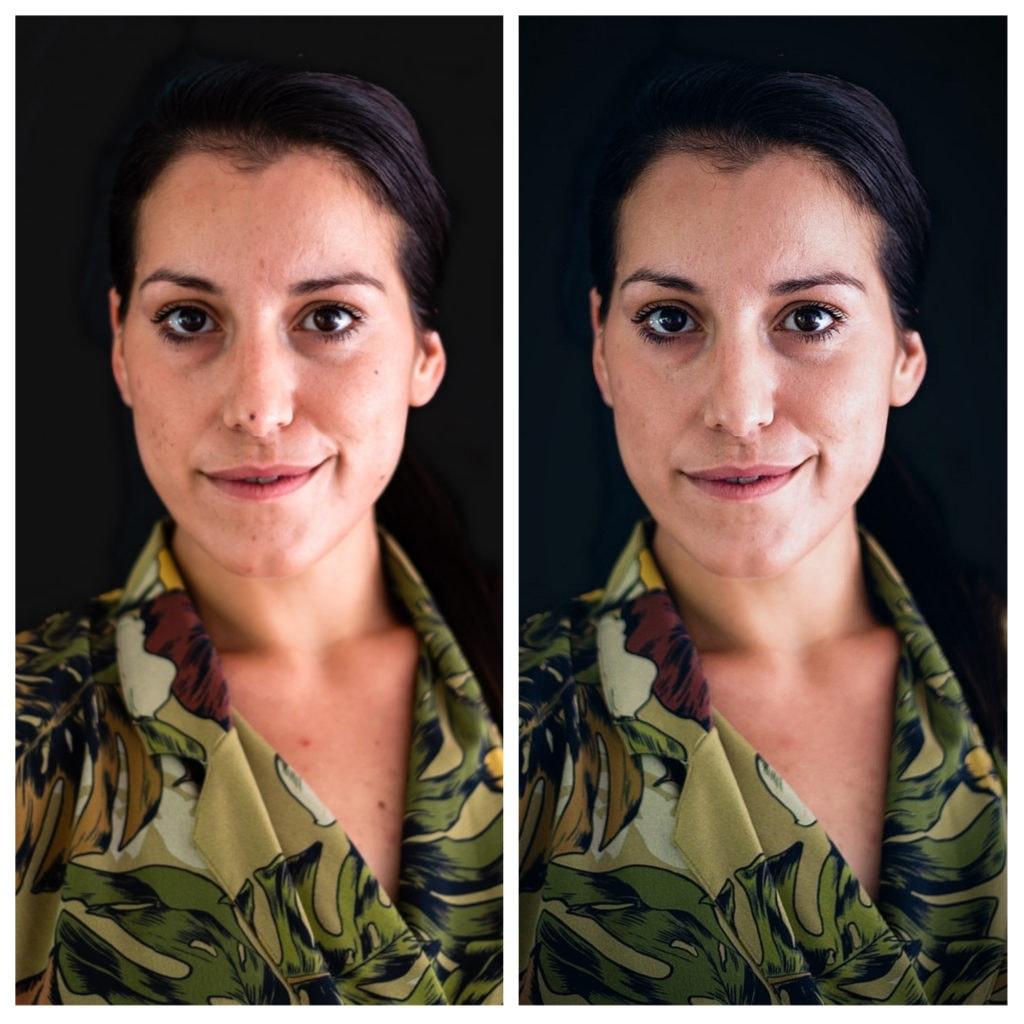 Ejemplo de retrato editado con Pixrl