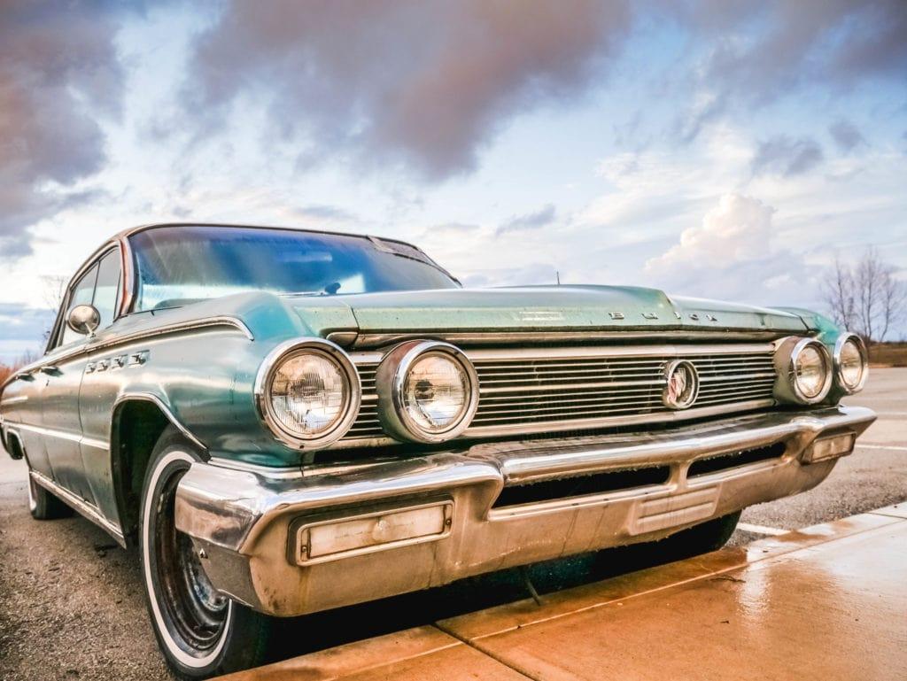 coche fotografiado con lumix G7