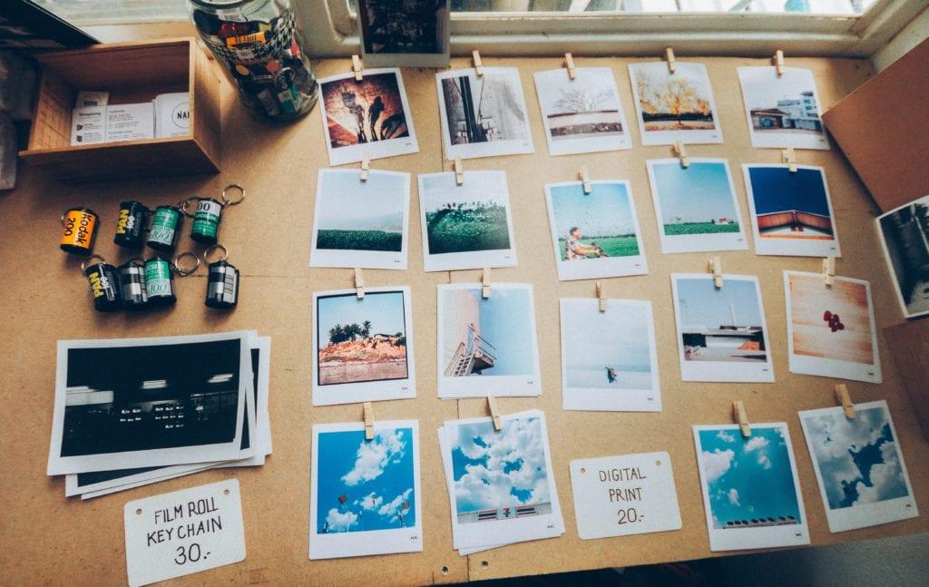 Fotos impresas y carretes de fotos