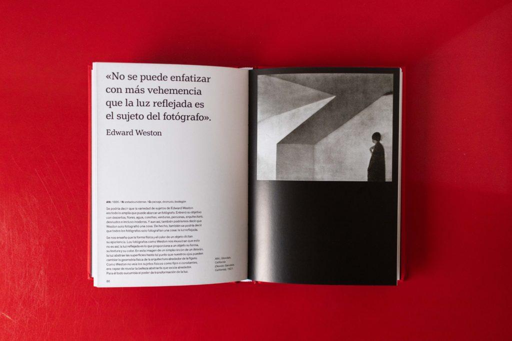 Ejemplo del interior del libro Los fotógrafos hablan sobre fotografía.