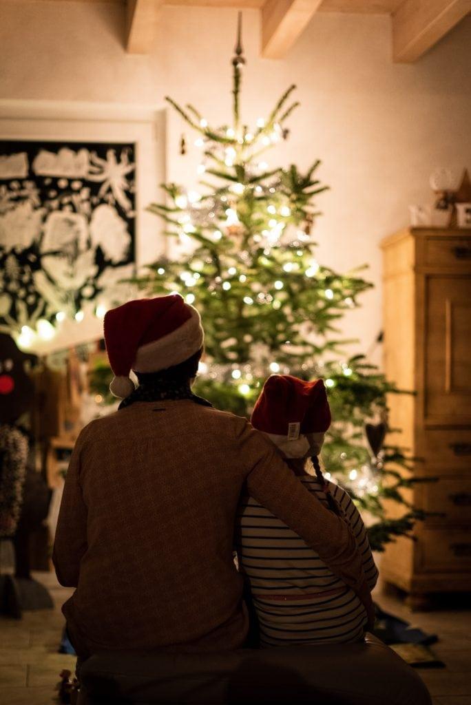 árbol familia navidad