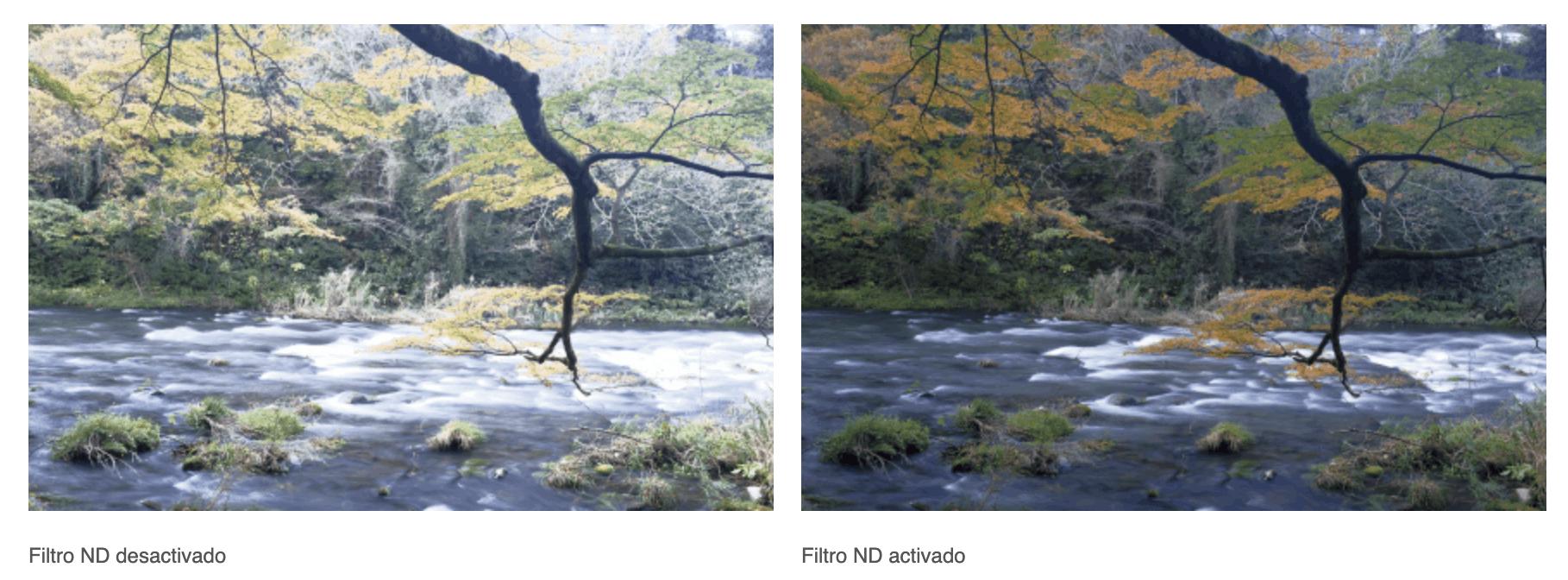 Comparativa de imagen con y sin Filtro ND de la Fujifilm X100F