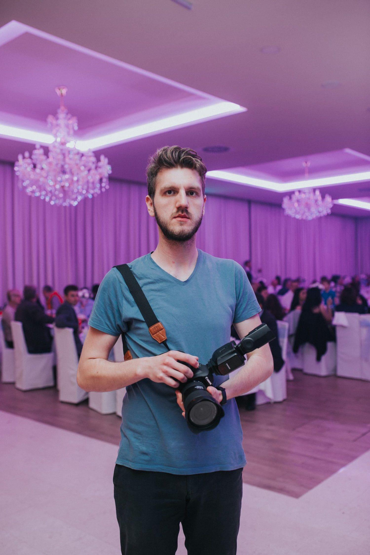 Fotógrafo en un evento