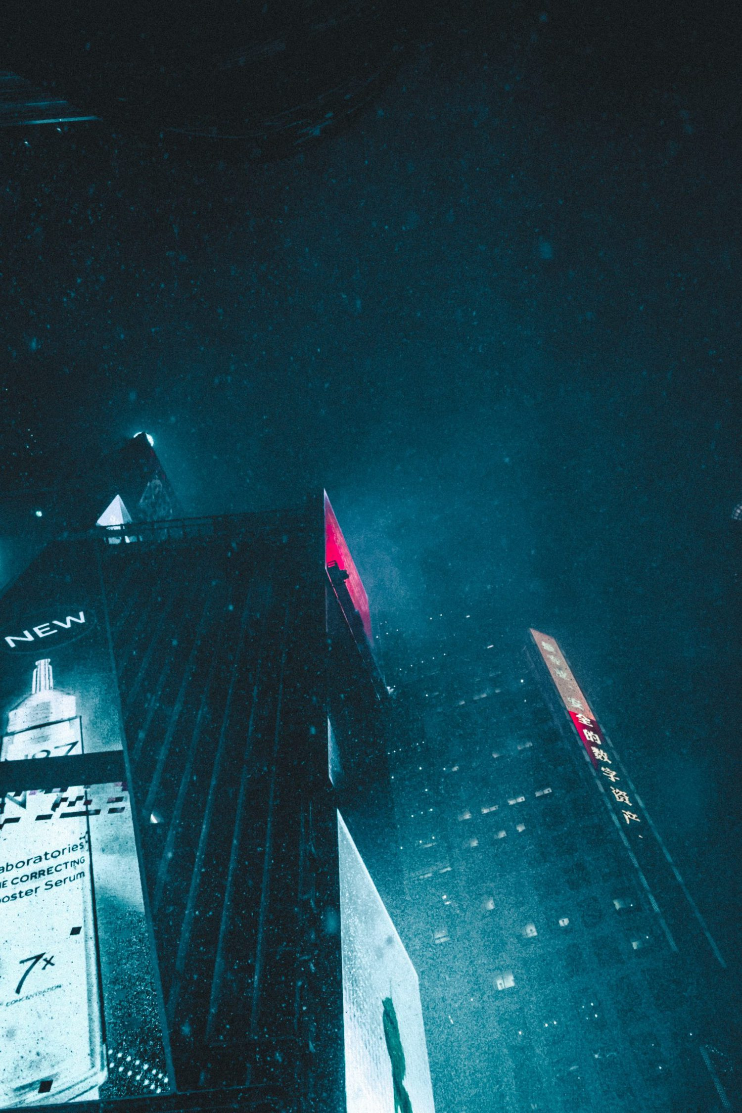 edificios de noche
