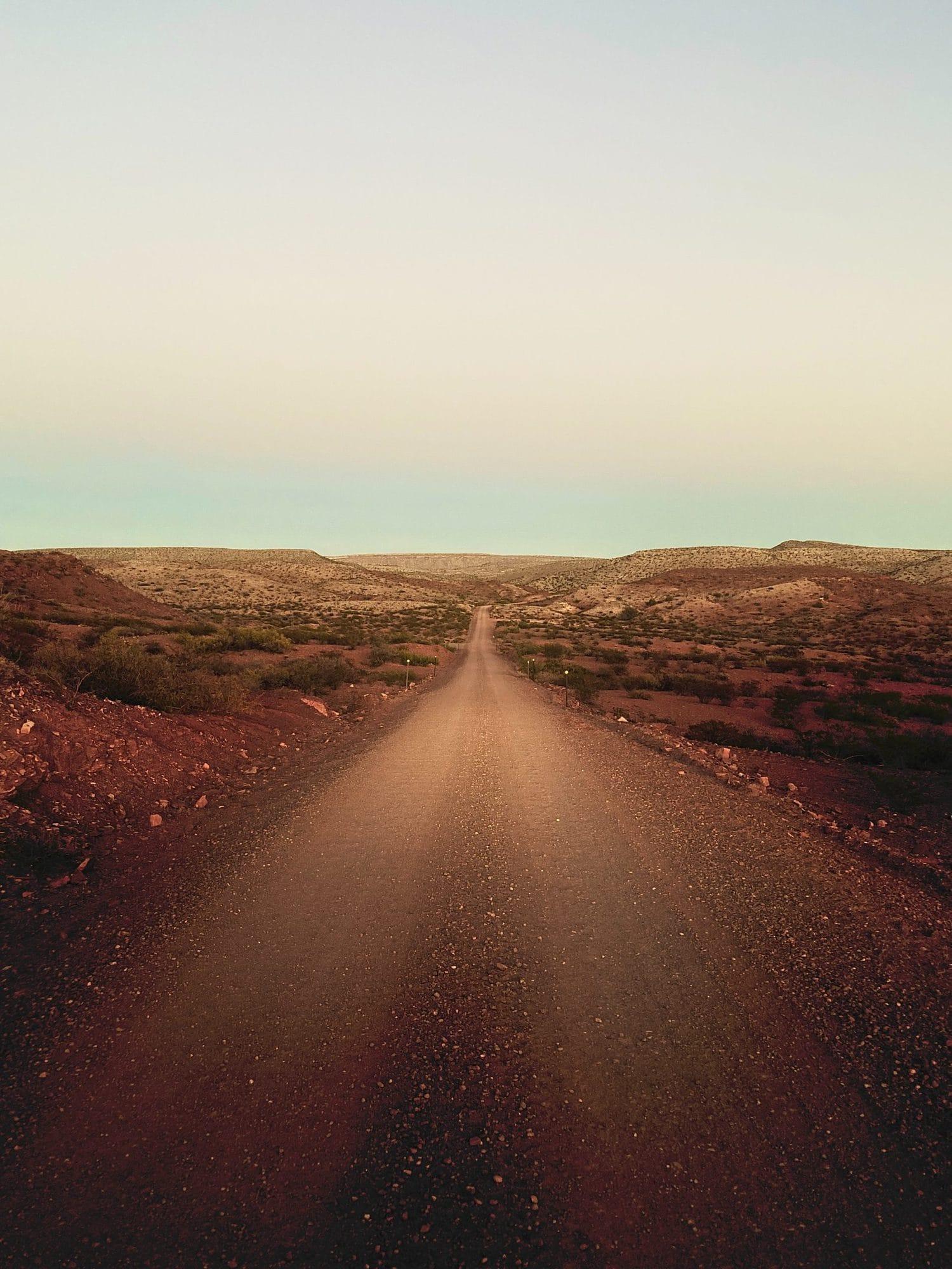 Carretera del desierto fotografiada con un iPhone 11 pro