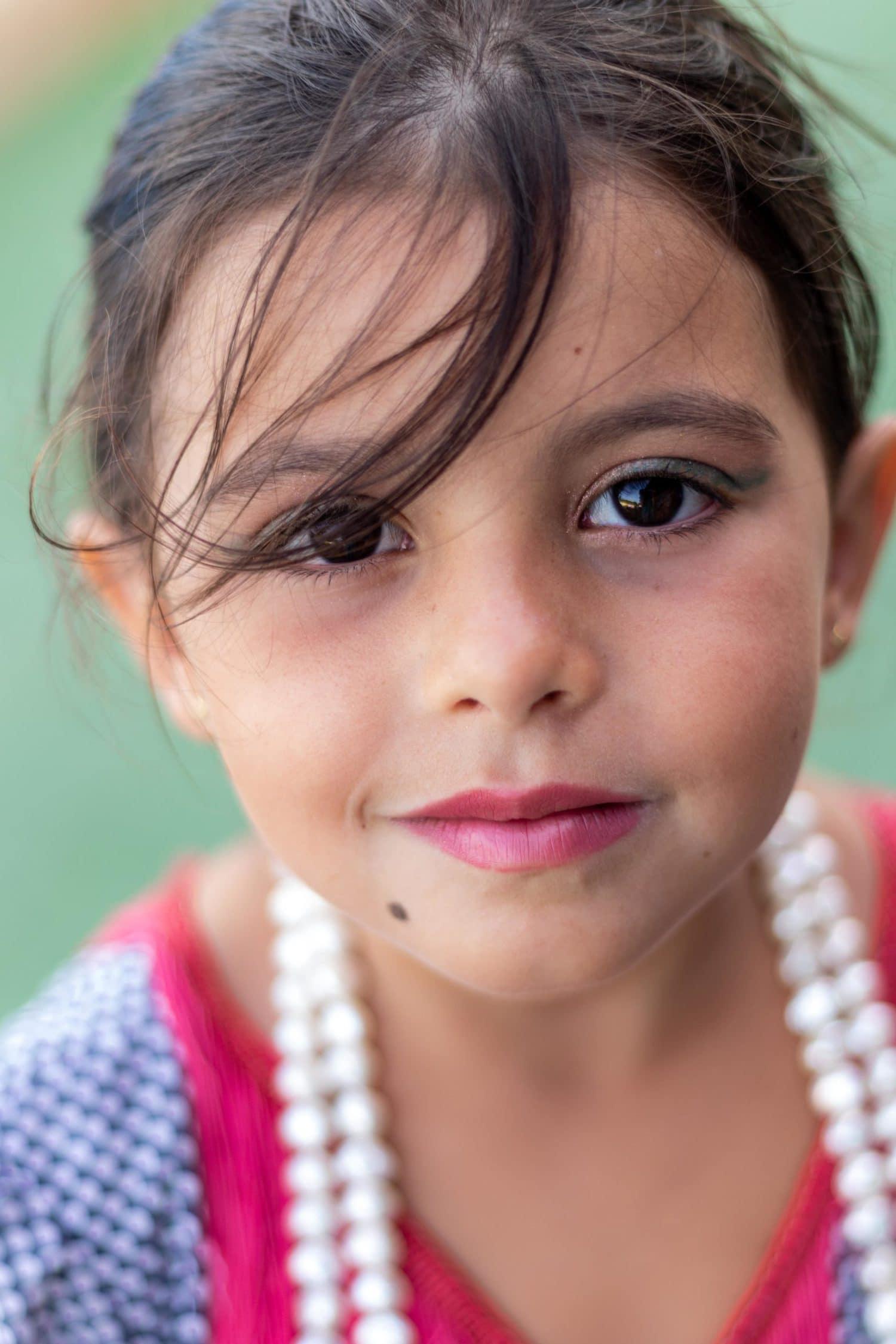 retrato niña disfrazada de flamenca