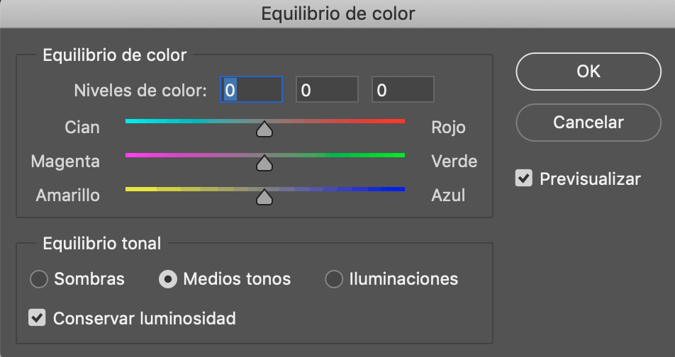 Temperatura color photoshop