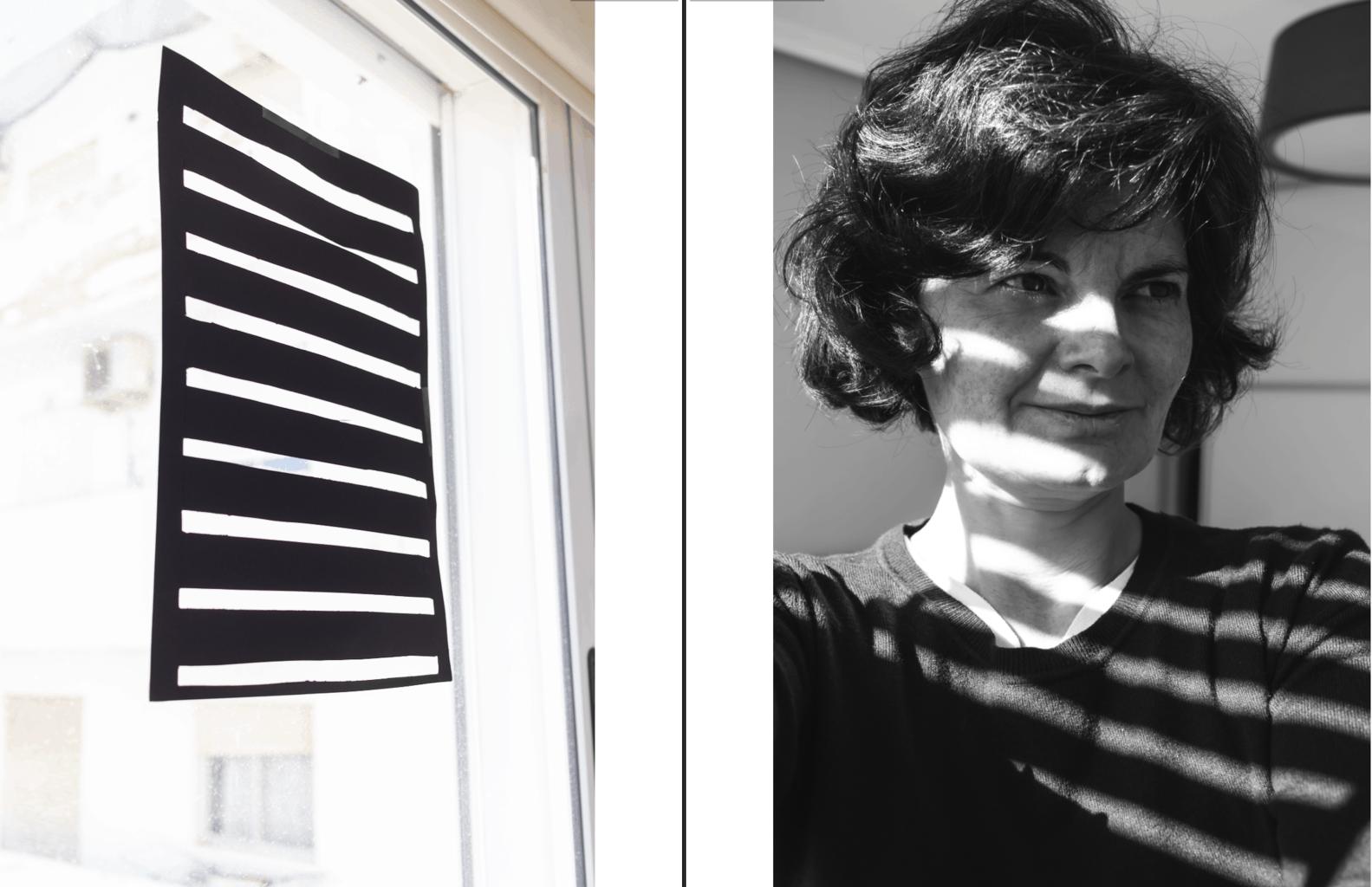 Ejemplo de sombras en retrato con una cartulina recortada