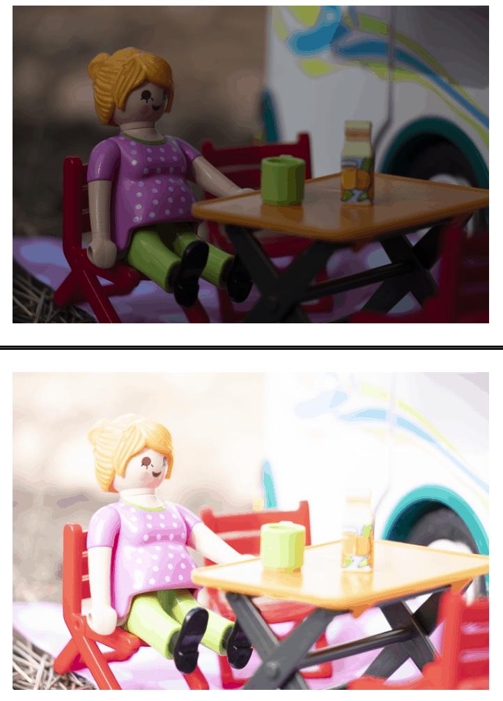 Comparativa de foto subexpuesta y sobreexpuesta