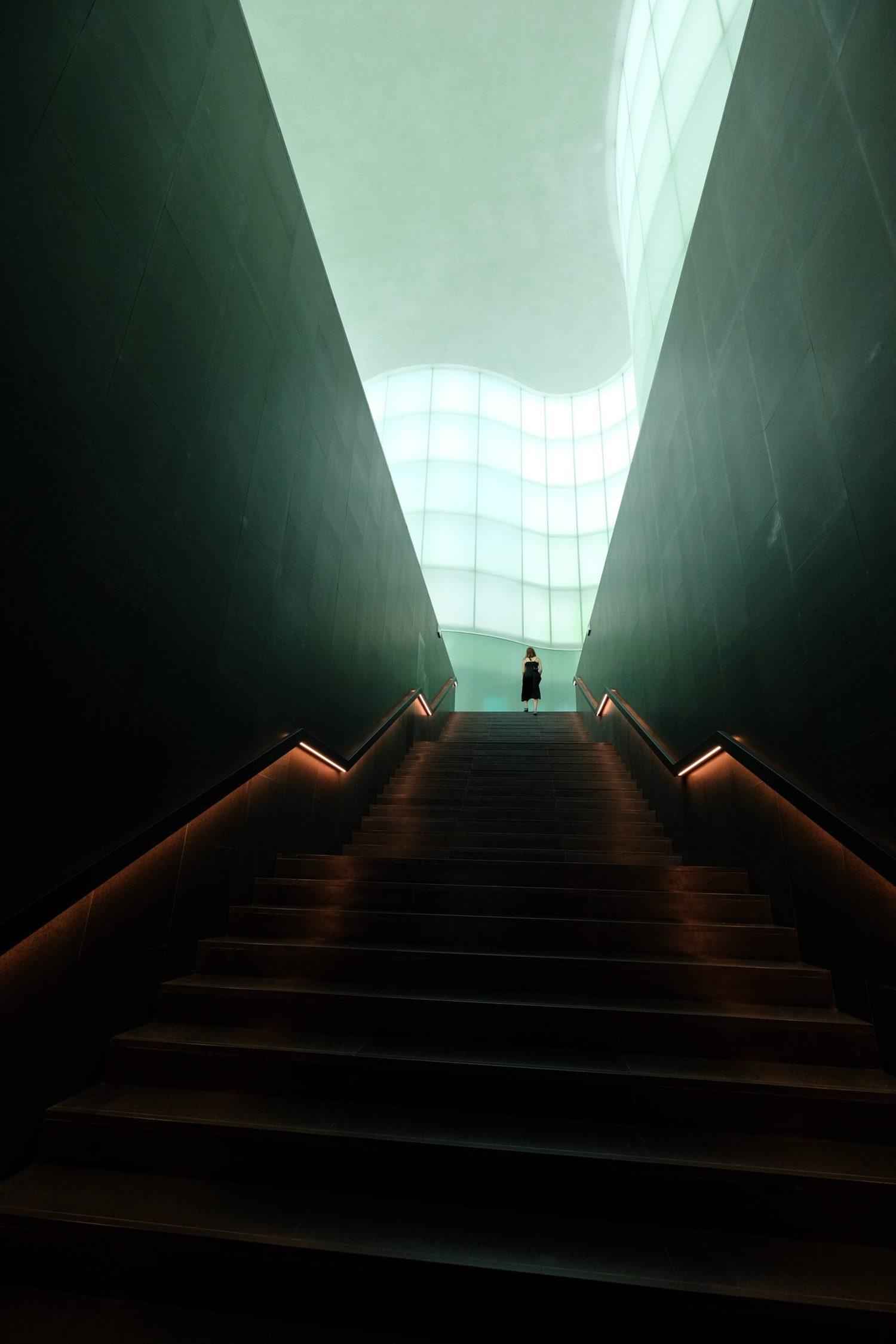 Arquitectura de museo, composición basada en líneas