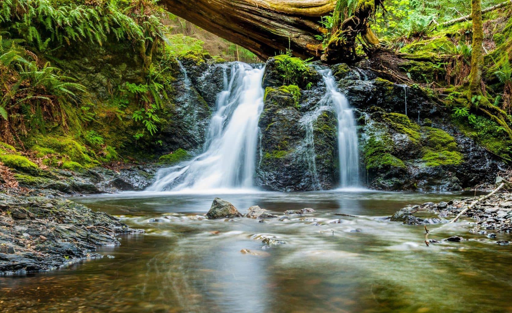 foto de naturaleza con el efecto seda