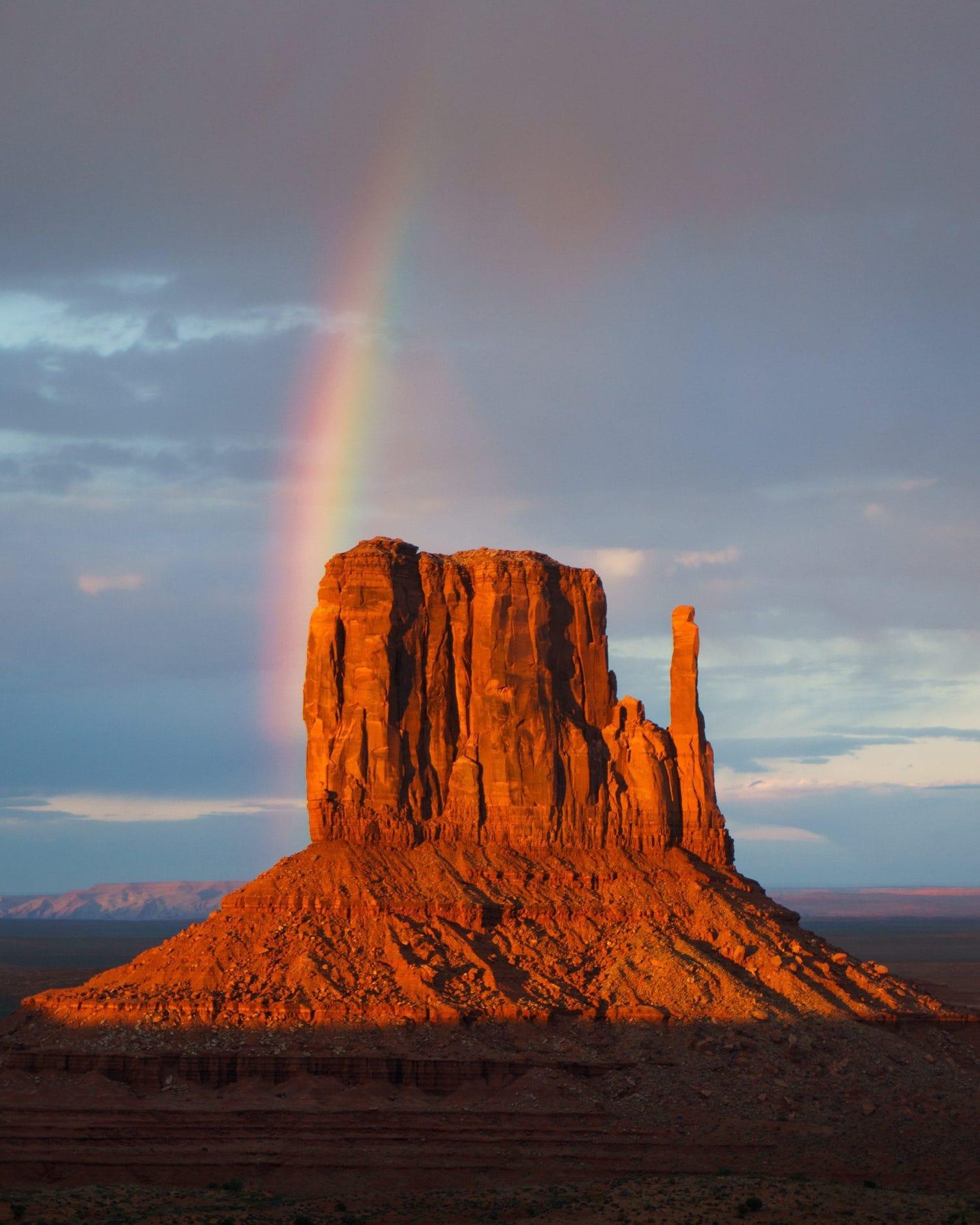 Arcoíris en el Gran Cañón al atardecer