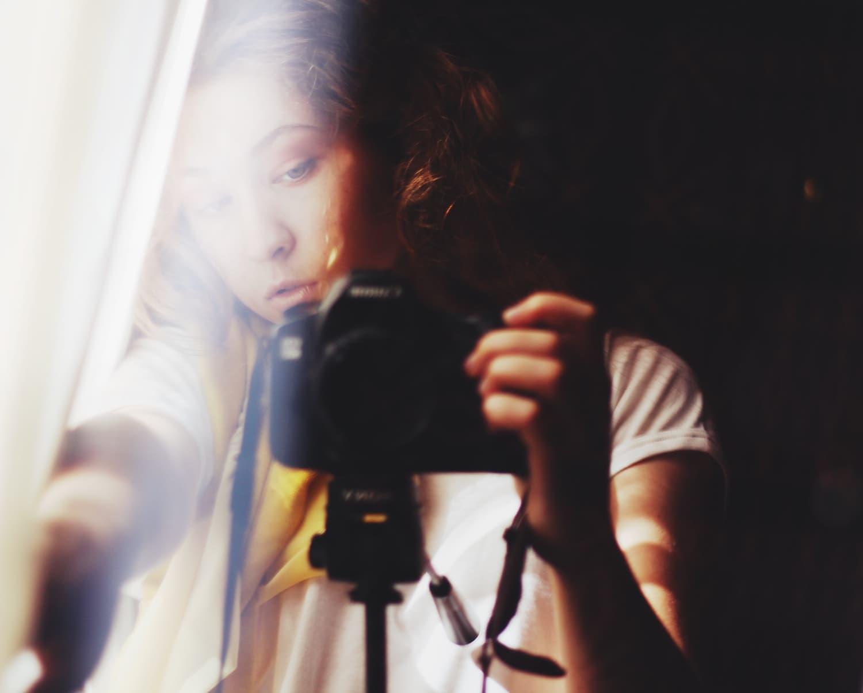 Fotografa autorretratandose