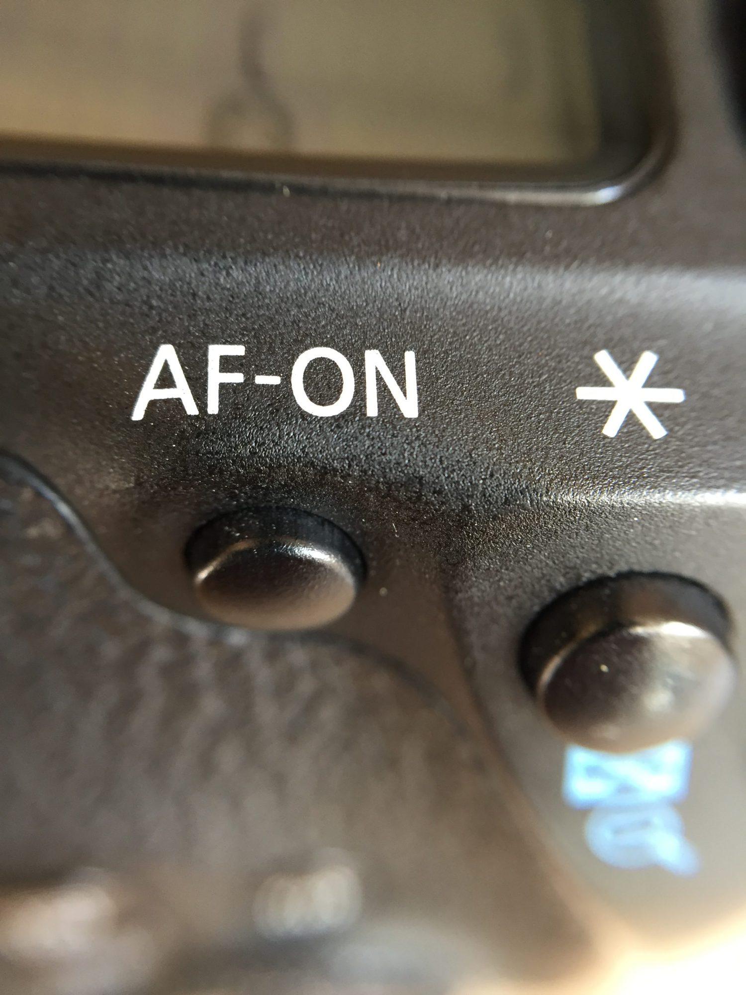 Botón AF-ON para disociar el enfoque
