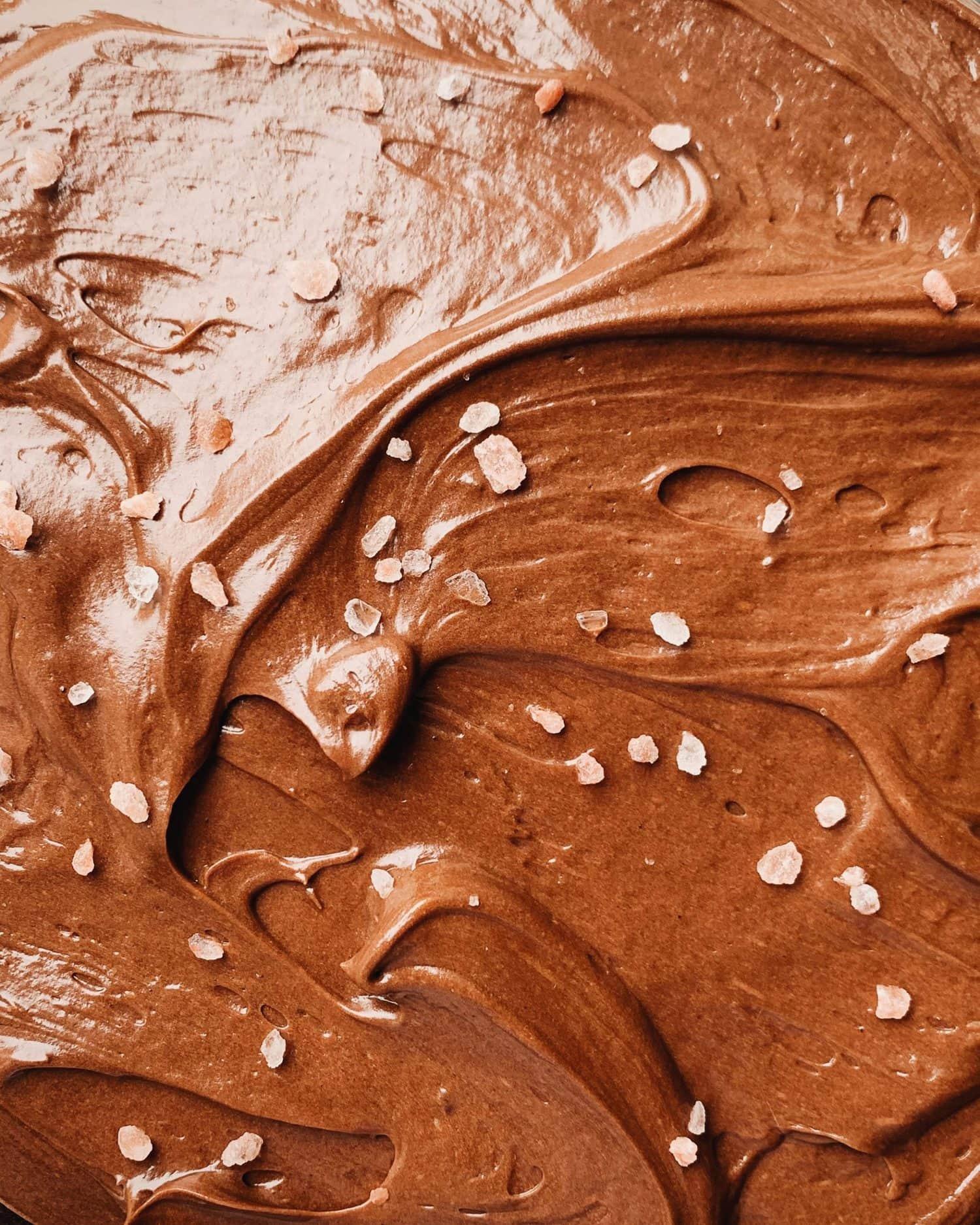 chocolate muy de cerca para ver la textura.