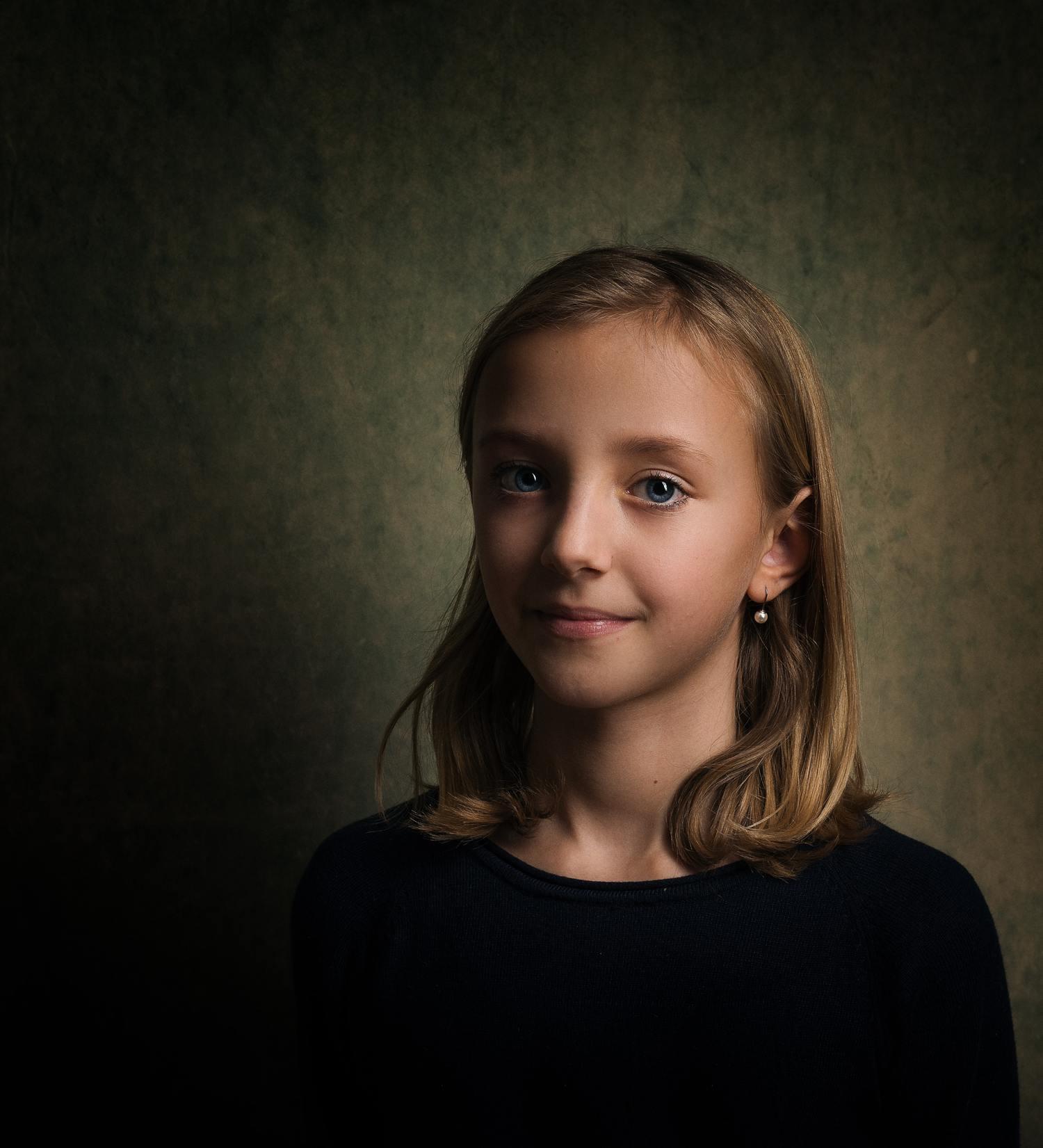 retrato nitidez niña