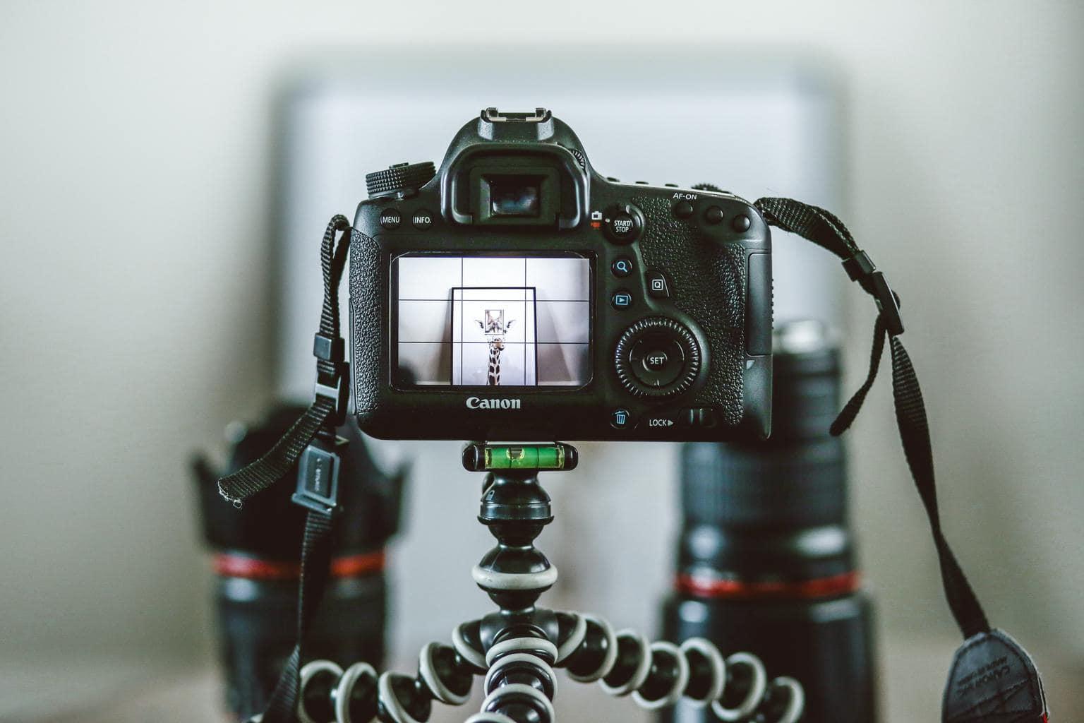 pantalla cámara enfocando un objeto