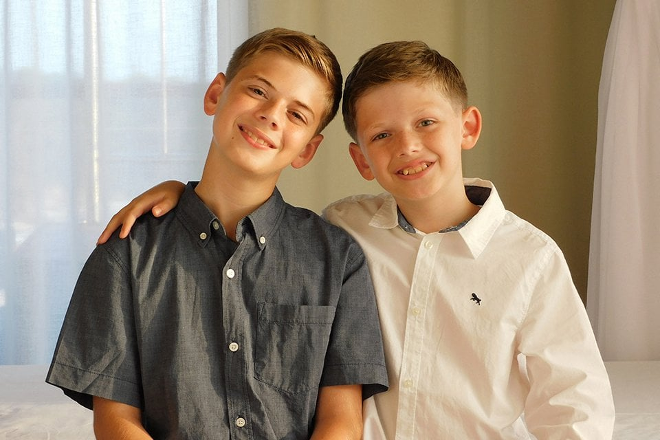 retrato hermanos con Nikon Coolpix B600