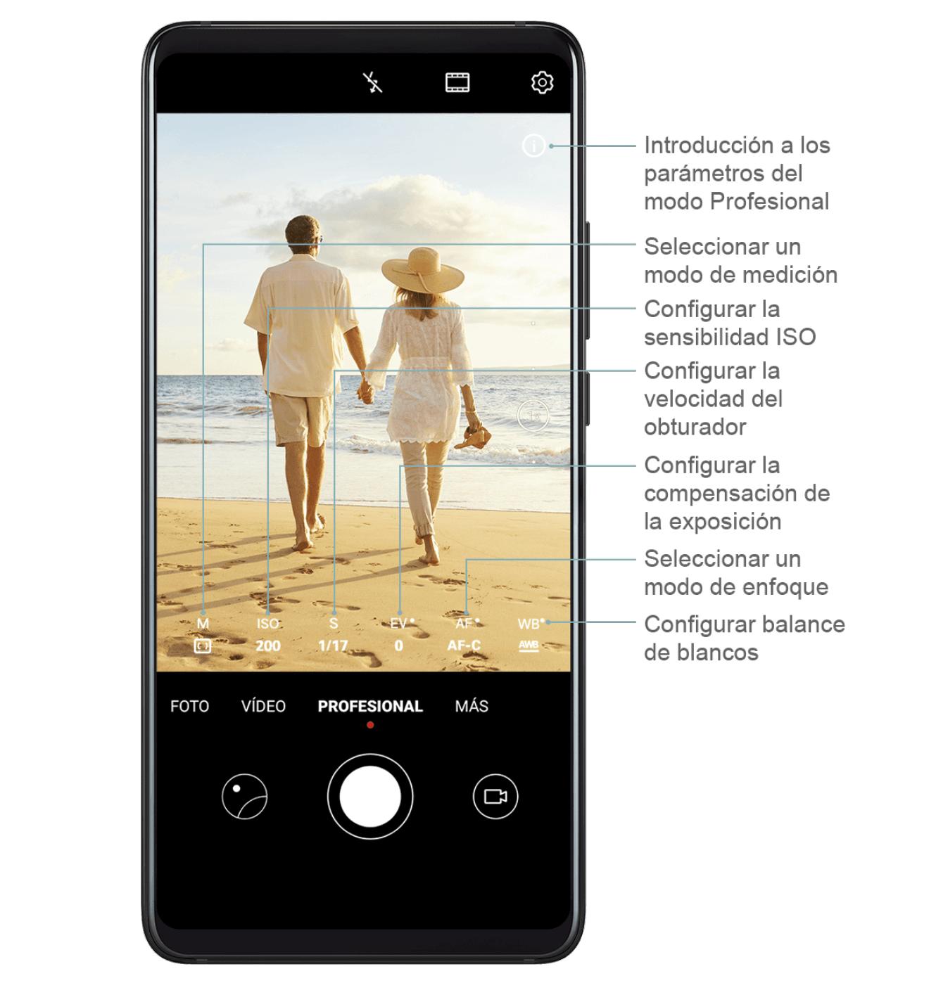 Modo Manual del Huawei P30