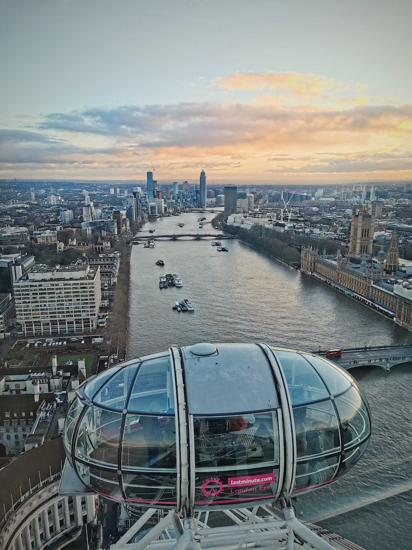 Vistas de Londres desde el London Eye capturadas con Huawei P30 pro