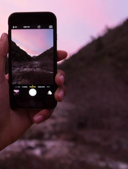 Cabecera de infográfico con consejos fotografía móvil