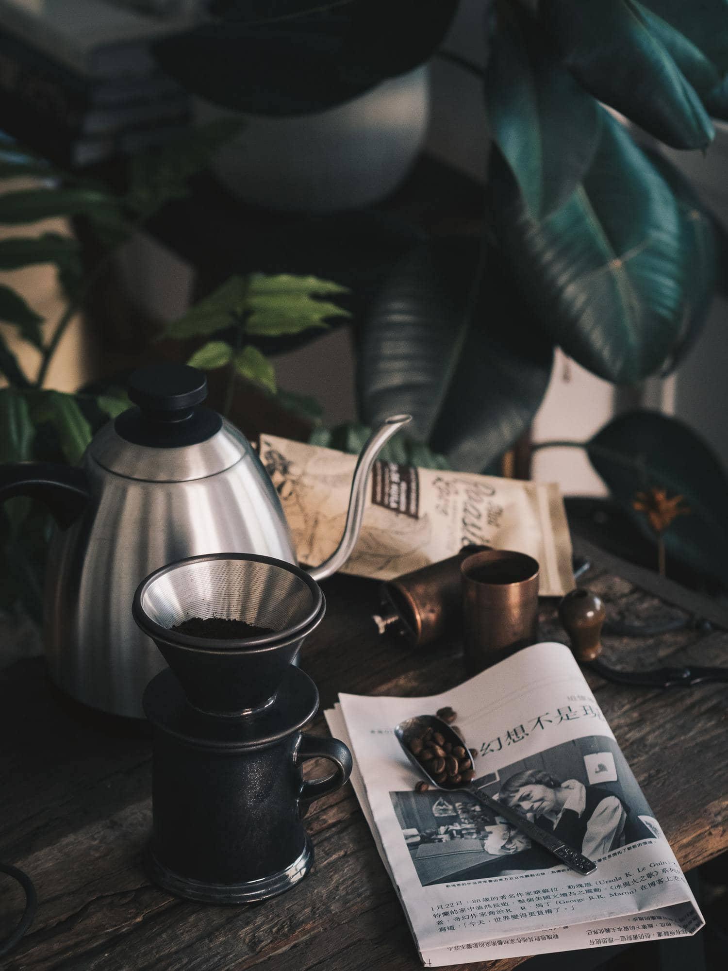 bodegón café composición