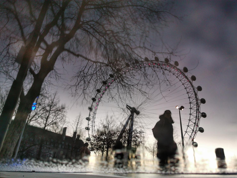 London Eye en reflejo capturado con Huawei P30 pro