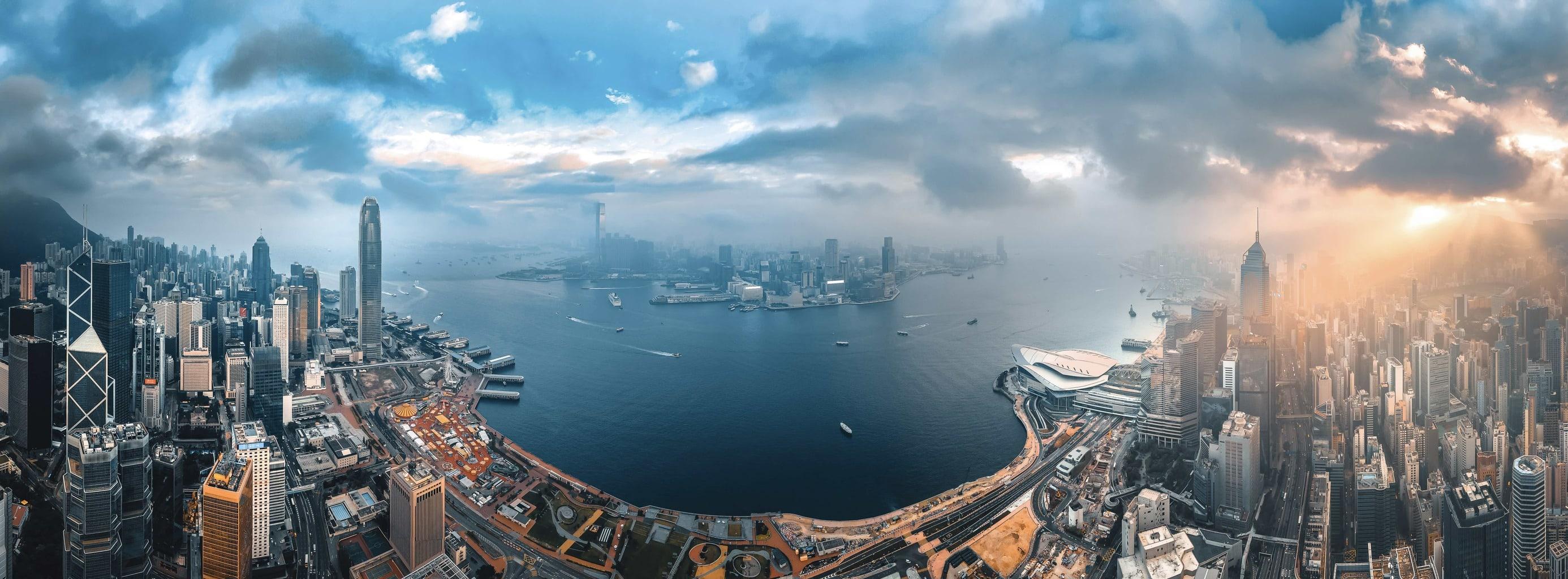 Panorámica que representa un tipo de paisaje, el urbano