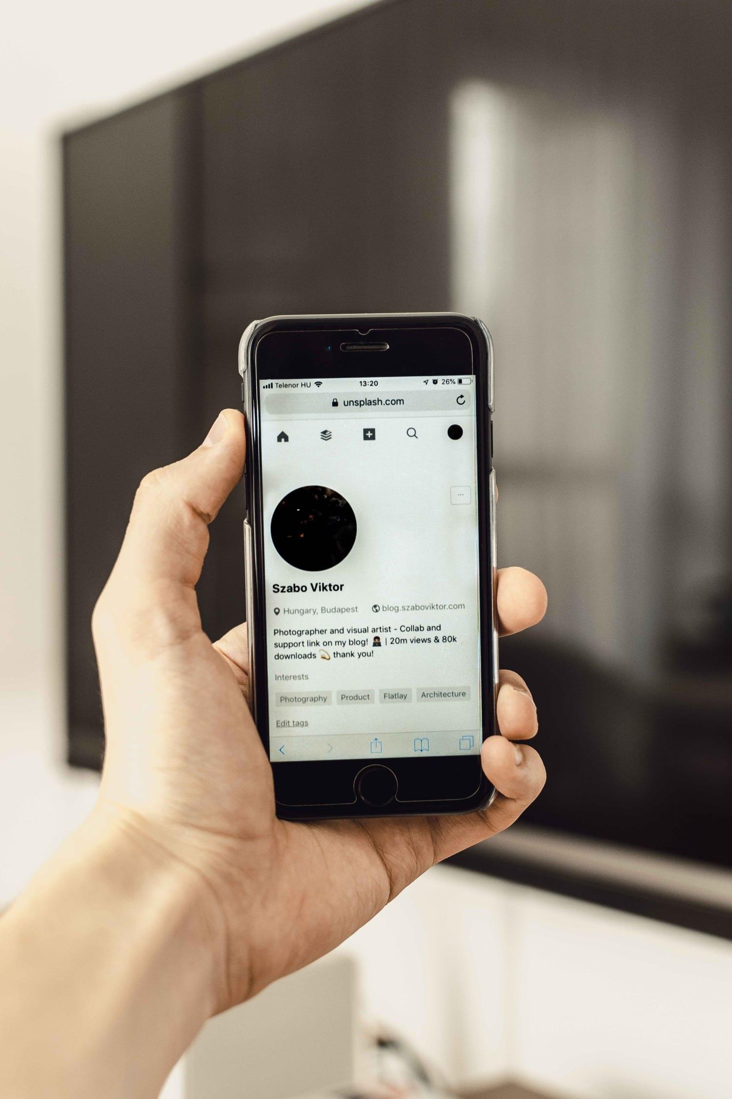 Perfil en red social