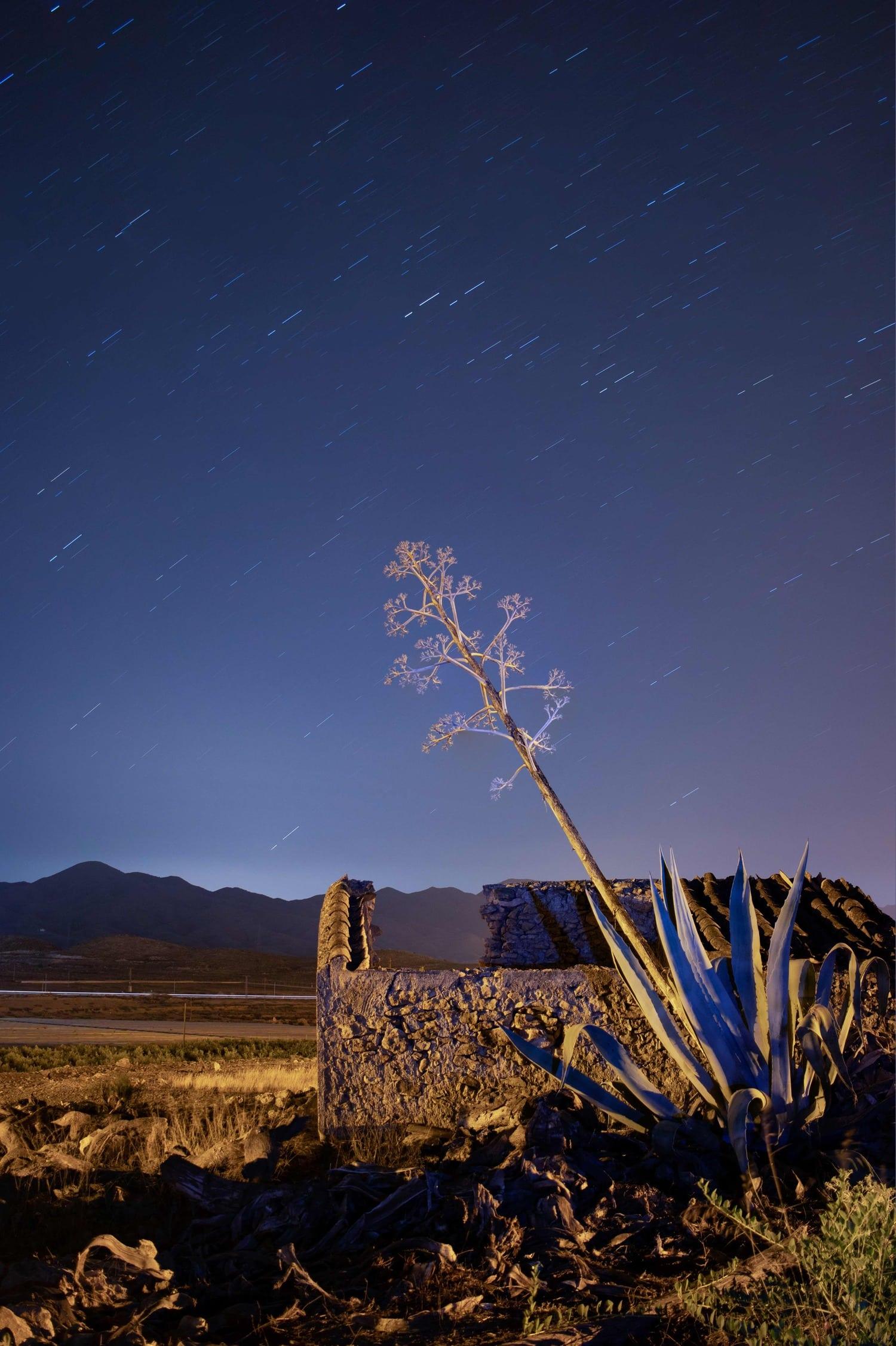 Fotografía de estrellas de Caro tomada con trípode