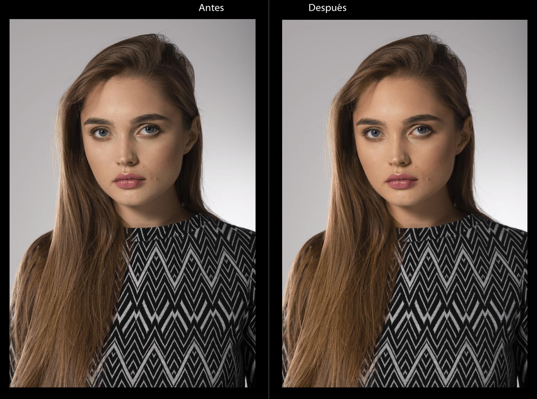 Ajuste de intensidad, antes y después