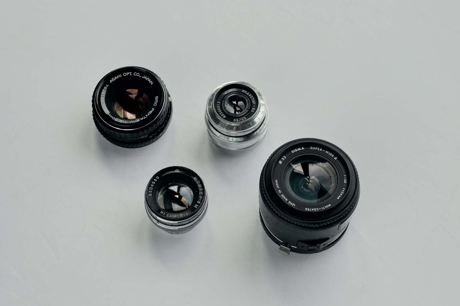 Objetivos de cámaras