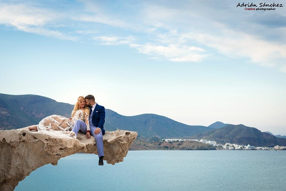 Fotografía de boda en zona de costa