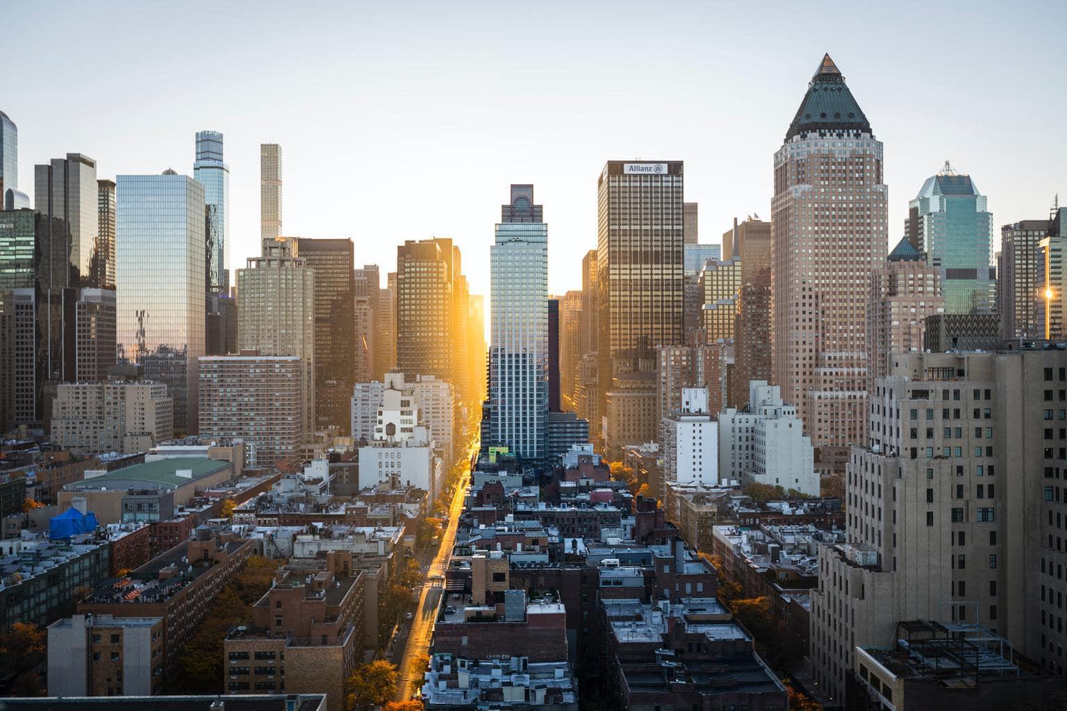 paisaje urbano amanecer