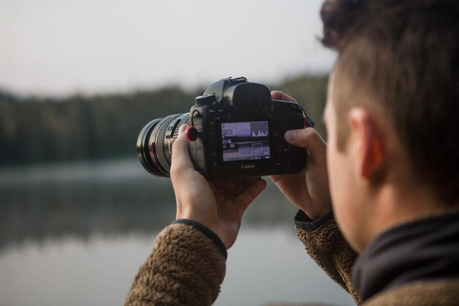 histograma cámara fotógrafo
