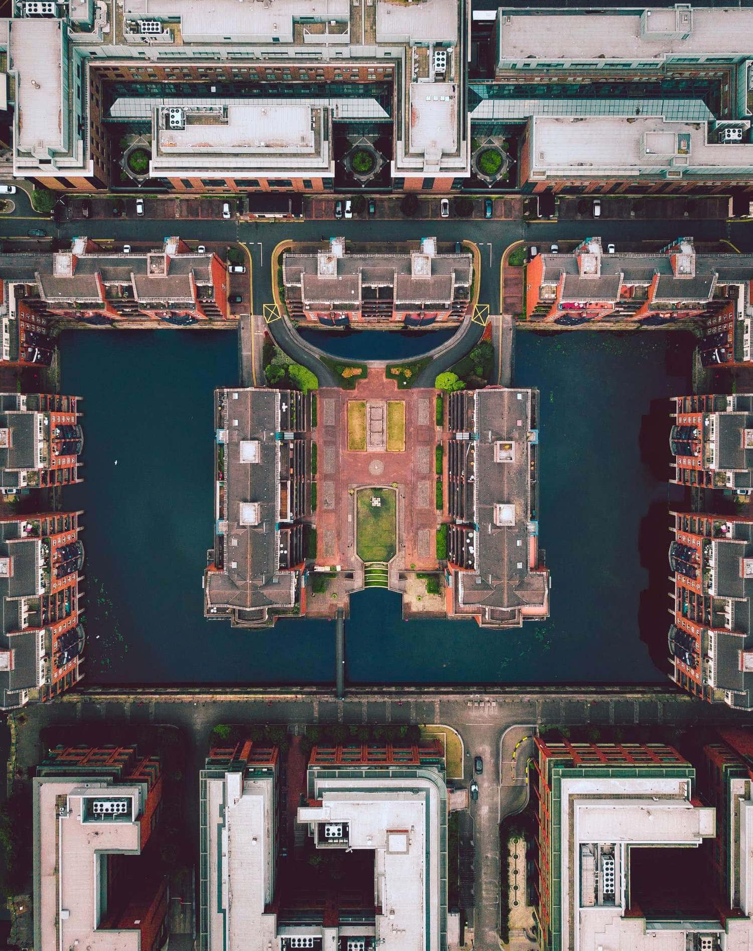 Fotografía urbana desde dron