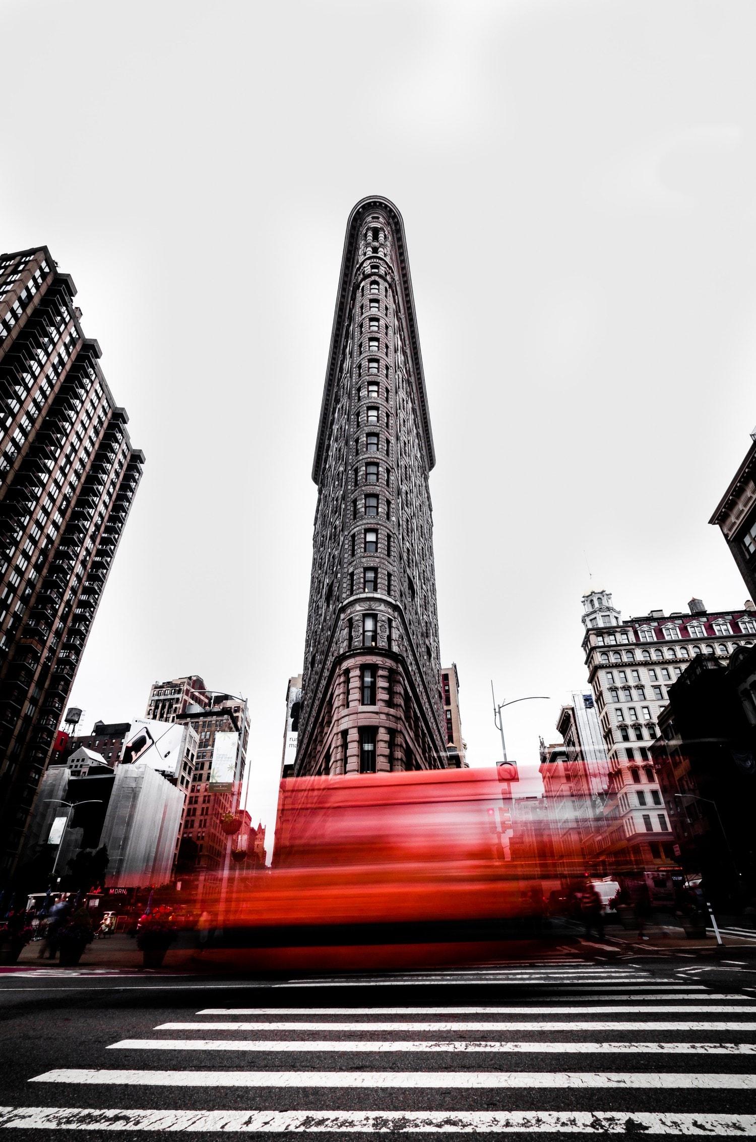 Foto urbana con efectos de edición y revelado