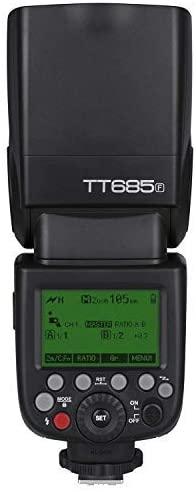 trasera flash godox TT685 con pantalla iluminada