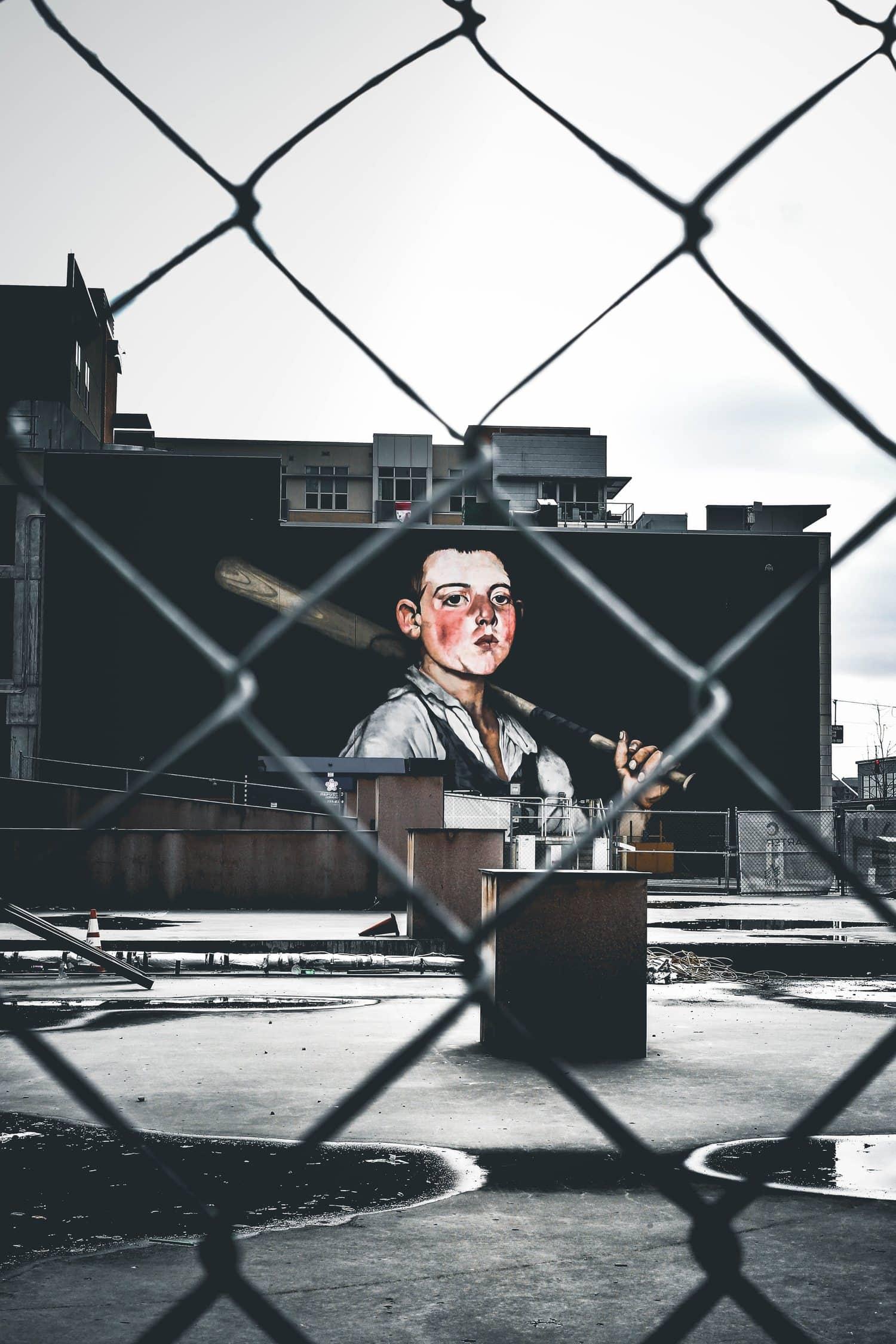 Grafiti con encuadre natural