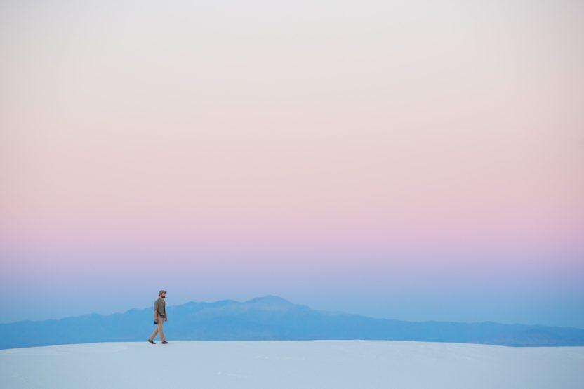 minimalismo paisaje composición amanecer