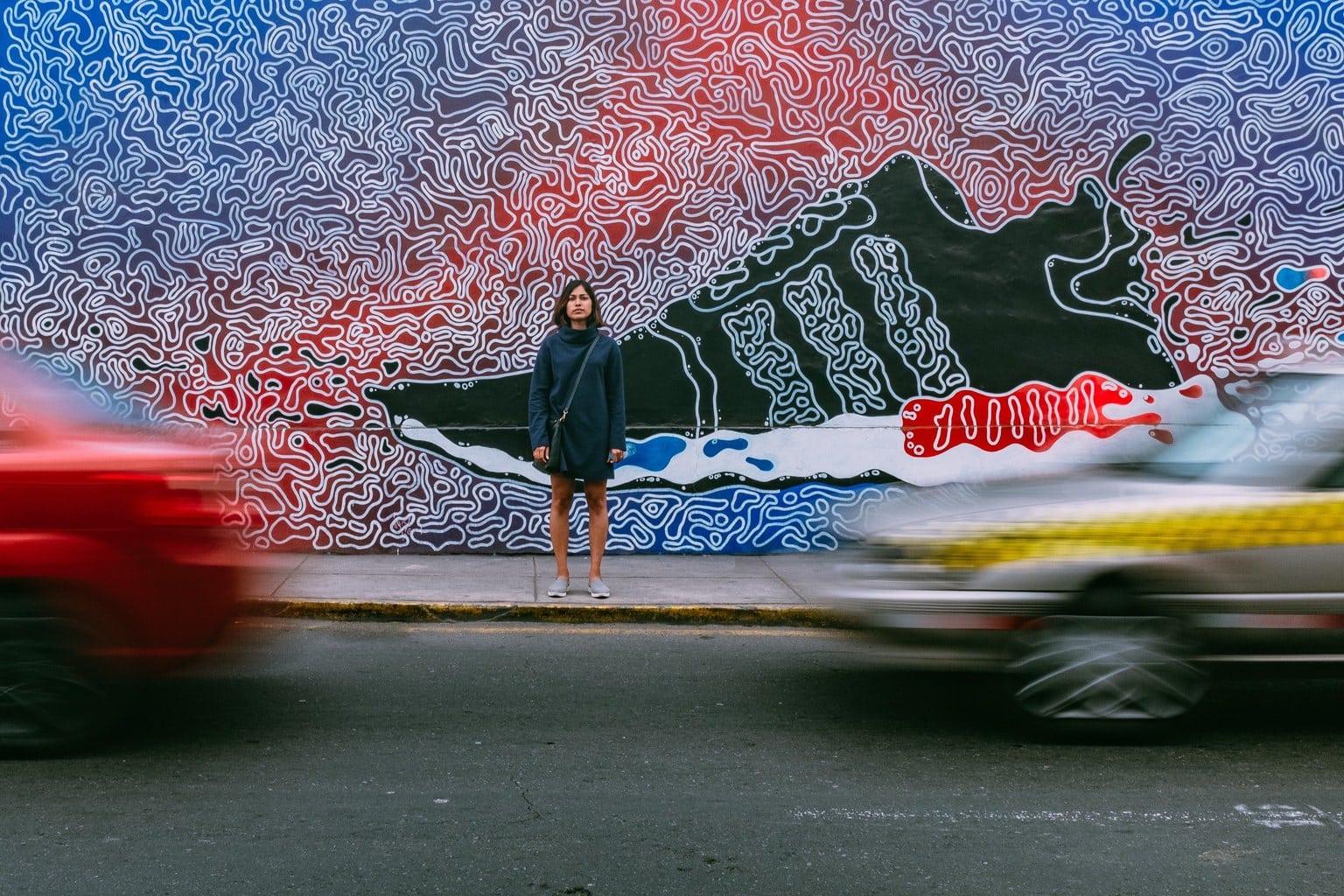 Retrato urbano con movimiento