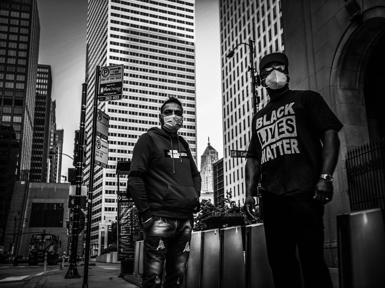 Fotografía urbana en blanco y negro