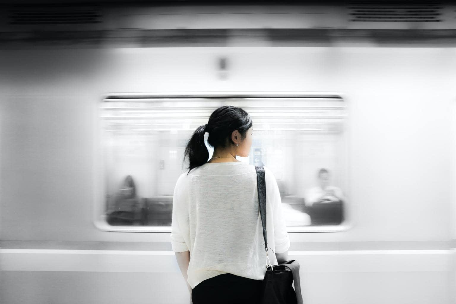 Fotografía de movimiento en el metro