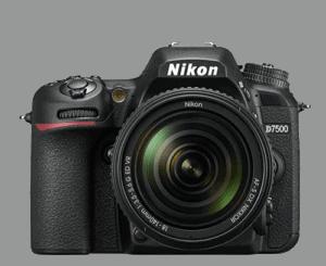 Cuerpo cámara Nikon D7500 vista frontal