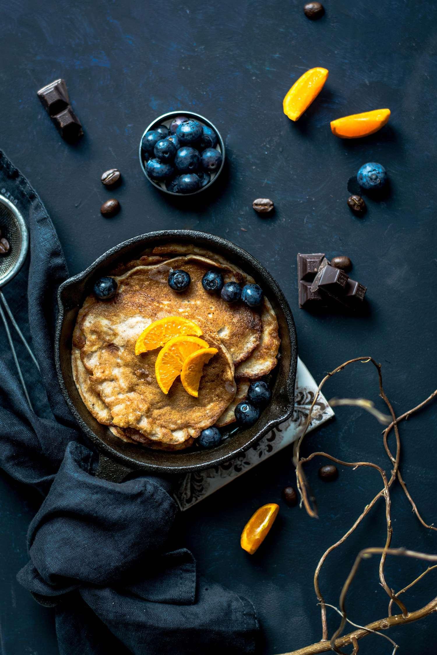 Fotografía de comida con contraste de color