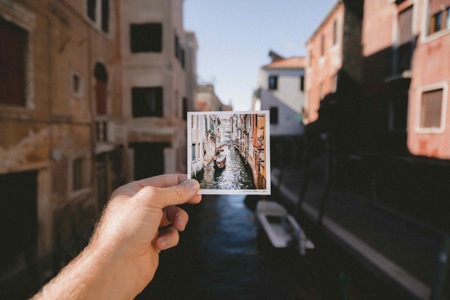 Foto impresa de canal de Venecia sobre canal de Venecia